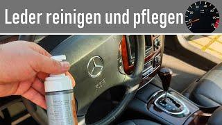 So reinigt und pflegt Ihr das Leder Eurer Mercedes-Benz S-Klasse