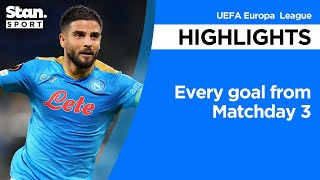 Every goal from Matchday 3 | UEFA Europa League | 2021-22