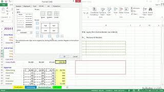 Excel 2013 tutorial: Applying border styles and adjusting gridlines | lynda.com
