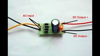 How to Make AC to DC converter at Home Very Easy.