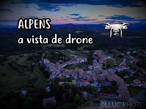 Alpens a vista de drone