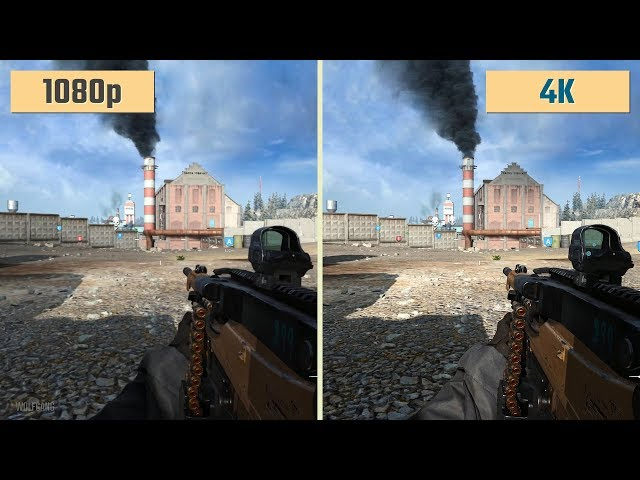 Call Of Duty Modern Warfare 1080p Vs 4k 2160p Graphics Beta