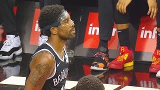Kyrie Irving First Nets Points With Mask In Debut! Raptors vs Nets 2019 NBA Preseason