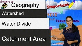 Watershed, Water Divide, Catchment Area - Terminologies in Hydrology & Geography