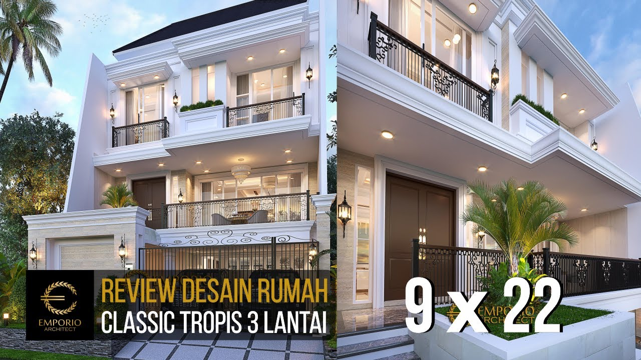 Video 3D Desain Rumah Classic 3 Lantai Mrs W - Jakarta