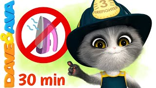😻 Five Little Firemen and More Nursery Rhymes by Dave and Ava 😻