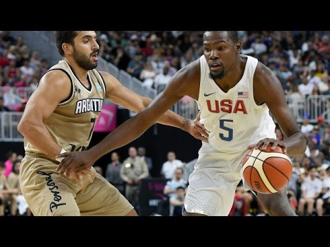 Download Argentina @ USA 2016 Olympic Basketball Exhibition FULL GAME HD 720p English HD Mp4 3GP Video and MP3