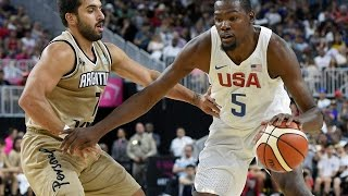 Argentina @ USA 2016 Olympic Basketball Exhibition FULL GAME HD 720p English