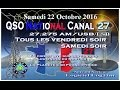 Samedi 22 Octobre 2016 QSO National du canal 27