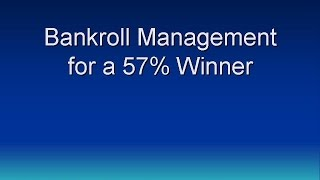 Bankroll Management for Sports Betting - bet 10%+