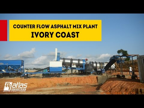 Mobile Counter Flow Asphalt Mixing Plant