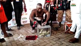 Nana Togbe Kedinakpo Shows his Magical Powers at Asantehemaa's Funeral at Manhyia, Kumasi