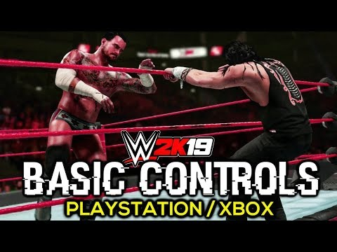 WWE 2K19 Basic Controls