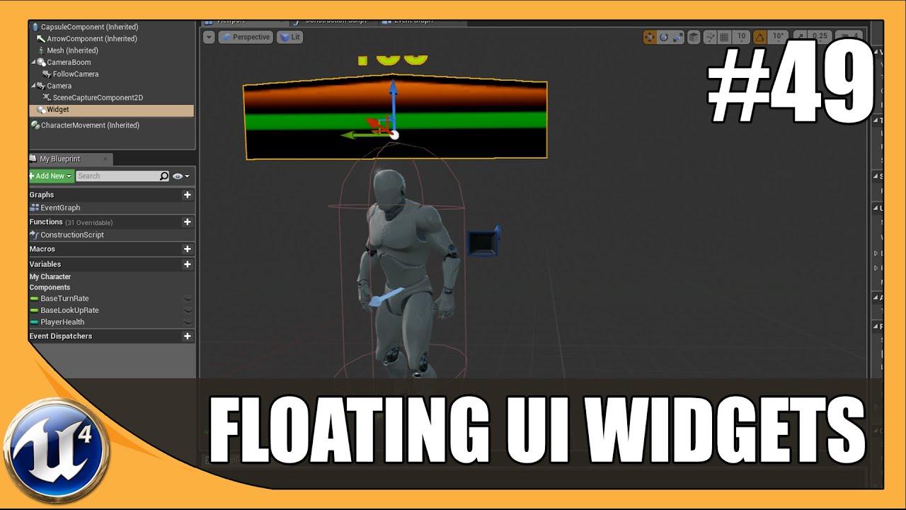 Floating UI Widget Component - #49 Unreal Engine 4 Beginner Tutorial Series