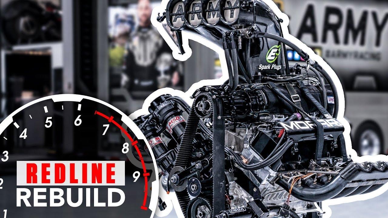 Redline Rebuild cracks open an 11,000-hp Top Fuel dragster engine