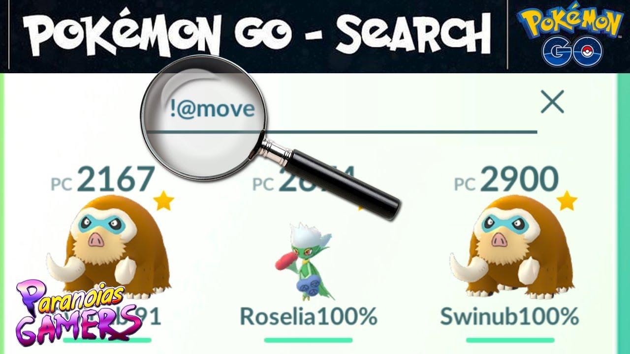 Como usar a nova barra de pesquisa de Pokémon Go