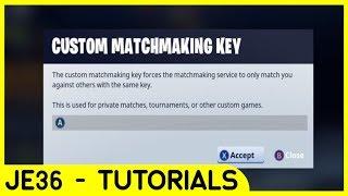 Custom matchmaking 1v1 fortnite