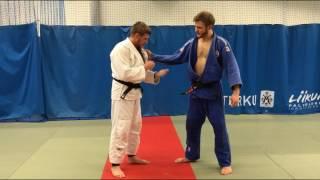 дзюдо. бросок через плечо. Judo.Sode tsurikomi goshi. Reverse kata Guruma.