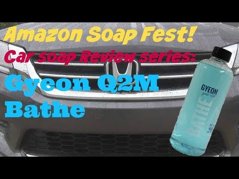 Amazon Soap Fest Review of Gyeon Q2M Bathe Car Wash