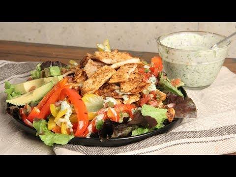 Chicken Fajita Salad with Creamy Cilantro Dressing   Ep. 1280
