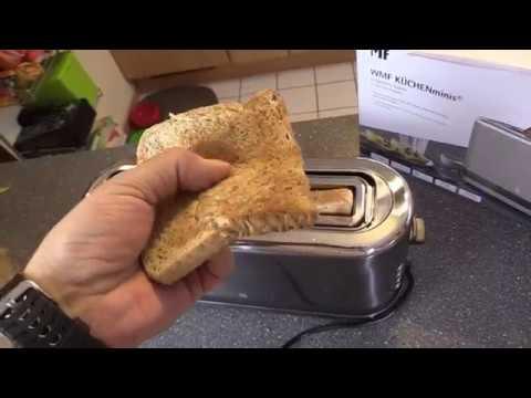 WMF Küchenminis Langschlitz-Toaster - integrierter Brötchenwärmer