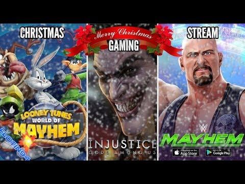 VÁNOČNÍ HERNÍ LIVE STREAM 2018 - Looney Tunes World of Mayhem, Injustice Mobile & WWE Mayhem