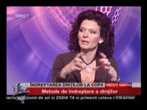 Dr. EMILIA MILICIN – Antena2 – Metode de îndreptare a dinților la copii 29-05-2012
