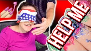 NAIL PAINTING HOSTAGE SITUATION   Blindfolded Nails Challenge