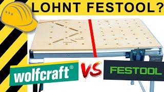 300€ WOLFCRAFT BESSER ALS 600€ FESTOOL MFT? WERKTISCH TEST | WERKZEUG NEWS #105