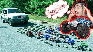 هل تستطيع سيارات الالعاب تحريك سيارة حقيقية كبيرة ؟!؟!