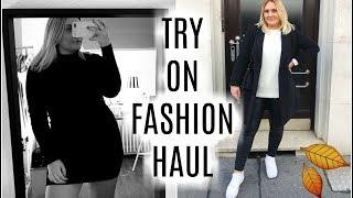 TRY ON FALL FASHION HAUL 2019 - Zara, Asos, Boohoo, H&M &&'