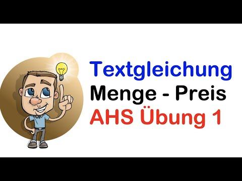 Textgleichung AHS Preis-Mengenbeispiel mit pq-Formel