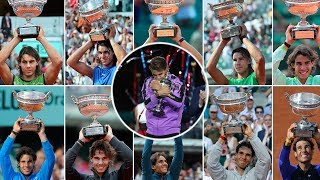Rafael Nadal - All 19 Grand Slams Championship Points (2005-2019)