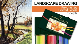 Landscape Drawing With Colored Pencils