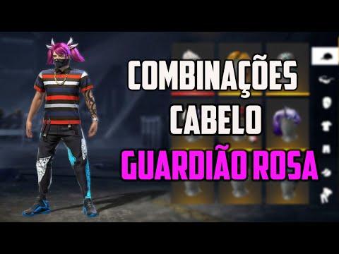 MELHORES COMBINAES DE ROUPAS NO FREE FIRE COM CABELO GUARDIO ROSA