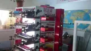 5 Renk 45 cm Flexo baskı makinesi