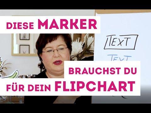 Flipchart - Tipps Teil 1: Diese Marker brauchst du für dein Flipchart