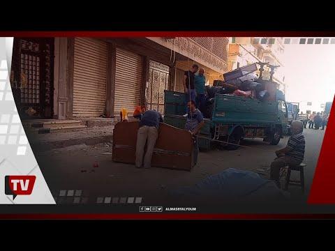 استمرار إخلاء عقار بحري المائل من الأثاث في الإسكندرية