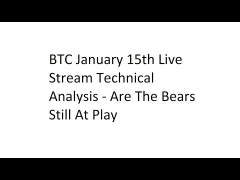 BTC January 15th Live Stream Technical Analysis – Are The Bears Still At Play