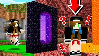 SHE CRIED when she SAW THE NETHER! (Minecraft)