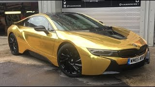 Master OV gets his car wrapped GOLD!!