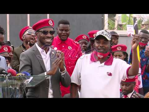 Bobi Wine welcomes artists to NUP