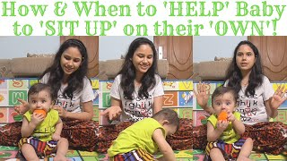 How to HELP your baby to SIT up on their OWN|5-10 months|Sitting milestone of baby