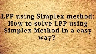 graphical methods to solve the linear programming problem