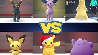 Typhlosion  - (Pokémon) - POKÉMON GO GYMS Umbreon, Espeon, Typhlosion vs Pichu, Ditto & Pikachu