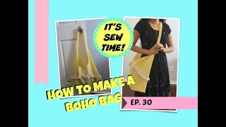 HOWTO SEW A BOHO BAG, EASY SEWING, BEGINNER SEWING