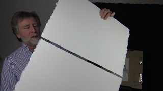 How to cut heavy watercolor paper with deckle edge