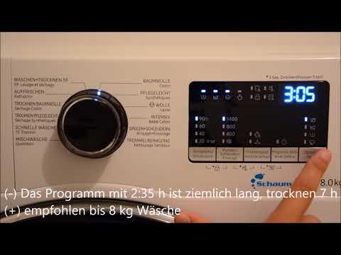 Samsung WD80M4453JW WS Waschmaschine und Trockner Kombigerät