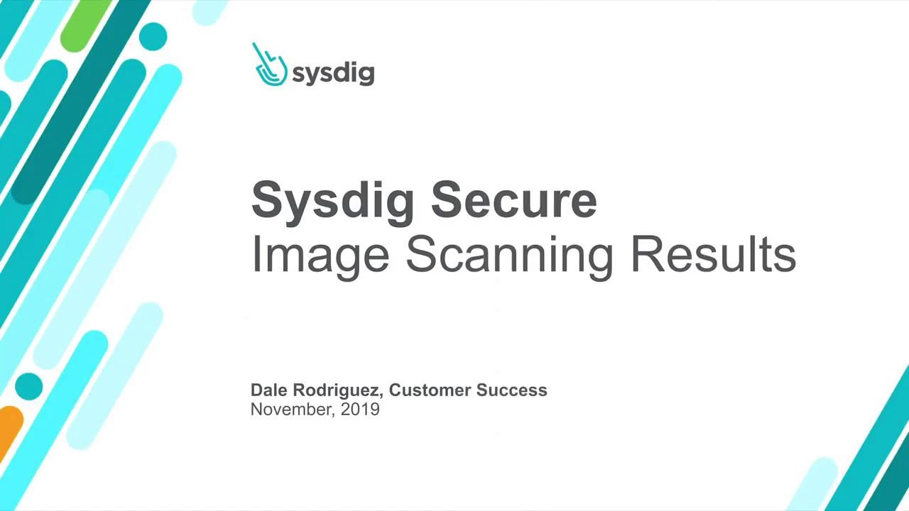 Sysdig Secure 101 イメージスキャン:スキャン結果