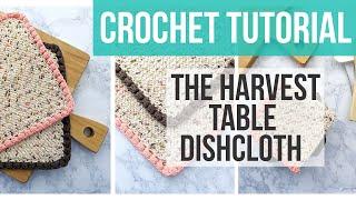 C2C MOSS STITCH DISHCLOTH | Harvest Table Dishcloth | Crochet Dishcloth Tutorial | Just Be Crafty